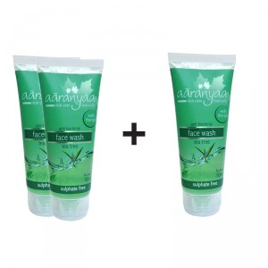 Buy Aaranyaa Anti Bacterial Tea Tree Face Wash - Sulphate Free (Buy 2 Get 1 Free) - Nykaa