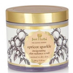 Buy Just Herbs Apricot Sparkle Invigorating Skin Radiance Scrub - Nykaa