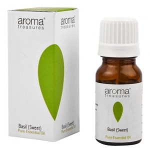 Buy Aroma Treasures Basil (Sweet) Pure Essential Oil  - Nykaa