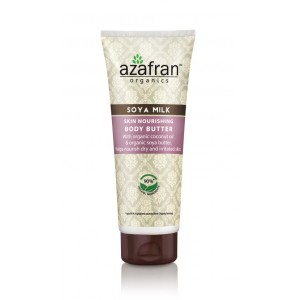 Buy Azafran Organics Soya Milk Skin Nourishing Body Butter - Nykaa