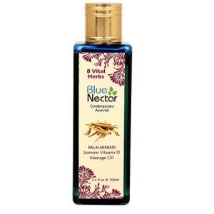Buy Blue Nectar Balalakshadi - Jasmine Vitamin D Massage Oil - Nykaa