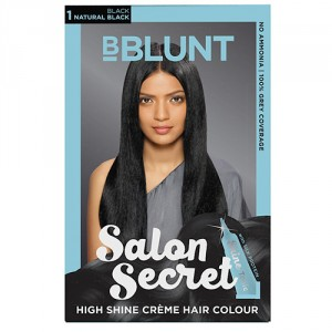 Buy BBLUNT Salon Secret High Shine Creme Hair Colour Black Natural Black 1 - Nykaa
