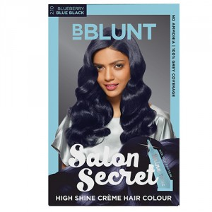 Buy BBLUNT Salon Secret High Shine Creme Hair Colour Blueberry Blue Black 2.10 - Nykaa