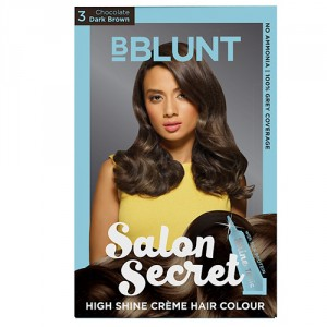 Buy BBLUNT Salon Secret High Shine Creme Hair Colour Chocolate Dark Brown 3 - Nykaa