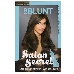 Buy BBLUNT Salon Secret High Shine Creme Hair Colour Coffee Natural Brown 4.31 - Nykaa