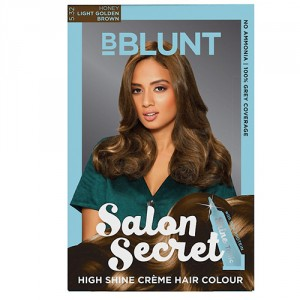 Buy Herbal BBLUNT Salon Secret High Shine Creme Hair Colour Honey Light Golden Brown 5.32 - Nykaa