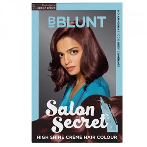Buy BBLUNT Salon Secret High Shine Creme Hair Colour Mahogany Reddish Brown 4.56 - Nykaa