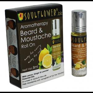 Buy Soulflower Aromatherapy Beard & Moustache Roll On - Nykaa
