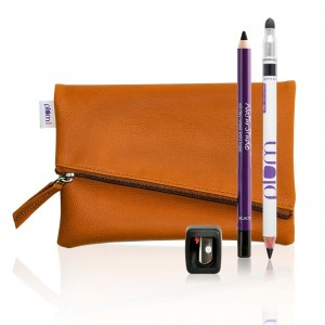 Buy Plum Kajal Duo Combo With Free Flip Tip Sharpener And Classic Tan Clutch - Nykaa
