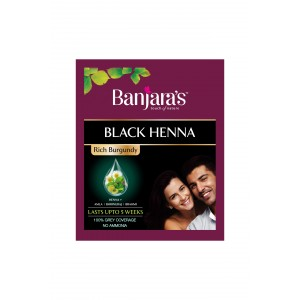 Buy Banjara's Black Henna Rich Burgundy - Nykaa