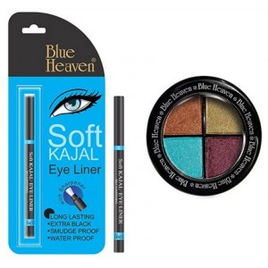 Buy Blue Heaven Eye Magic Eye Shadow 603 & Bh Kajal Liner Combo - Nykaa