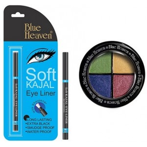Buy Blue Heaven Eye Magic Eye Shadow 604 & Bh Kajal Liner Combo - Nykaa