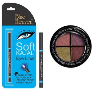 Buy Blue Heaven Eye Magic Eye Shadow 605 & Bh Kajal Liner Combo - Nykaa