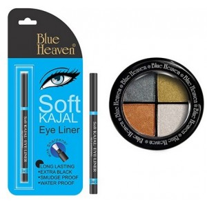 Buy Blue Heaven Eye Magic Eye Shadow 606 & Bh Kajal Liner Combo - Nykaa