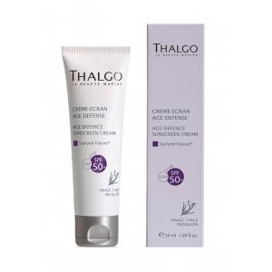 Buy Thalgo Age Defence Sunscreen Cream Face SPF 50 - Nykaa