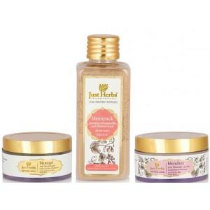 Buy Just Herbs Ayurvedic Blemish Treatment Kit - Nykaa