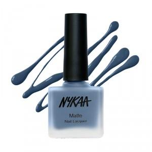 Buy Nykaa Fall Winter Matte Nail Enamel - Blue Jellybean 128 - Nykaa