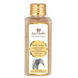 Buy Just Herbs Body Luster Sandal-Turmeric Ubtan Pack - Nykaa