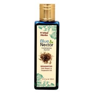 Buy Blue Nectar Briganantadi Hair Repair & Treatment Oil - Nykaa