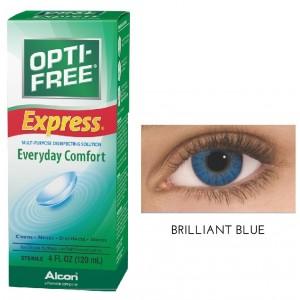 Buy Freshlook 30 Day Lens Brilliant Blue + Free 120ml Lens Solution - Nykaa