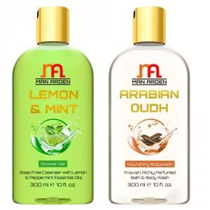 Buy Man Arden Lemon & Mint + Arabian Oudh Shower Gel - Nykaa