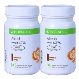 Buy Herbalife Afresh Energy Drink Cinnamon 100gm - Set of 2 - Nykaa