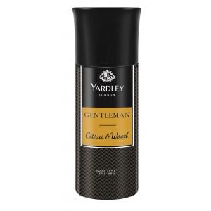 Buy Yardley Gentleman Citrus and Wood Deodorant Body Spray - Nykaa