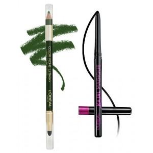 Buy L'Oreal Paris Color Riche Le Smoky Eyeliner - Antique Green 209 + Free Kajal Magique - Nykaa