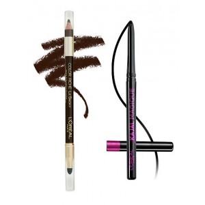 Buy L'Oreal Paris Color Riche Le Smoky Eyeliner - Brown Fusion 204 + Free Kajal Magique - Nykaa