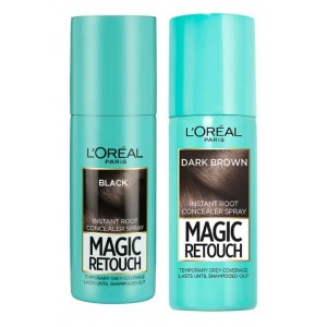 Buy L'Oreal Paris Magic Retouch Instant Root Concealer Black & Dark Brown Combo - Nykaa
