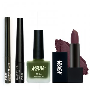 Buy Nykaa All Things Fine Eyes Lips & Nails Combo - Nykaa