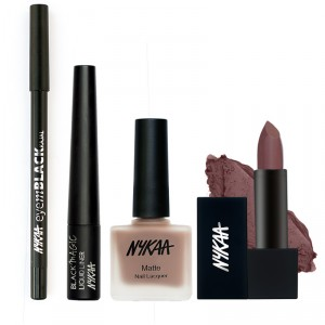 Buy Nykaa Meet For A Coffee Eyes Lips & Nails Combo - Nykaa