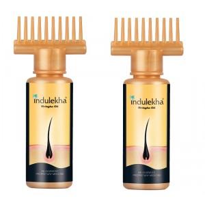 Buy Indulekha Bringha Hair Oil (Pack Of 2) (50ml) - Nykaa