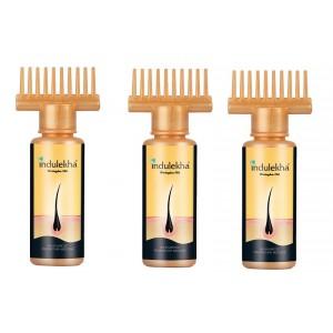 Buy Indulekha Bringha Hair Oil (Pack Of 3) (50ml) - Nykaa