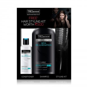 Buy TRESemme Spa Rejuvenation Shampoo 580 ml With Conditioner 85 ml & Get A Salon Kit Worth Rs. 500/- Free - Nykaa