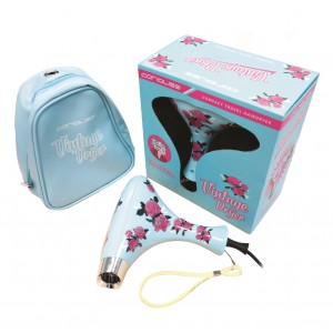 Buy Corioliss Mini Vintage Blue Floral Hair Dryer - Nykaa