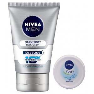 Buy Nivea Men Dark Spot Reduction Face Scrub + Free Soft Cream - Nykaa