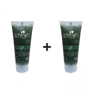 Buy Aaranyaa Detanning Face & Body Scrub - Neem & Tulsi (Buy 1 Get 1 Free) - Nykaa