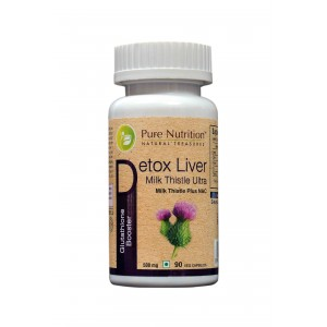 Buy Pure Nutrition Detox Liver Milk Thistle 90 Capsules - Nykaa