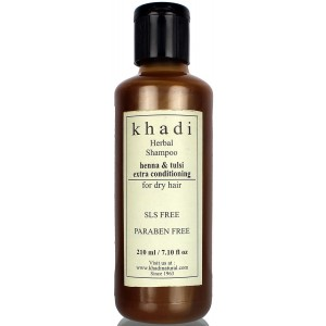 Buy Khadi Natural Henaa Tulsi Extra Conditioning Shampoo (For Dry Hair) - Nykaa