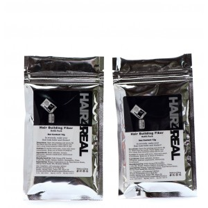 Buy Hair4Real Hair Thickening Fibers Black Refill Pack (Pack Of 2) - Nykaa