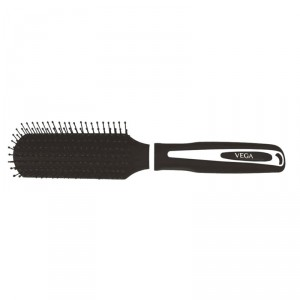 Buy Vega Flat Brush - Black Rubber Coating - Nykaa
