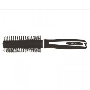 Buy Vega Round Brush - Black Rubber Coating - Nykaa