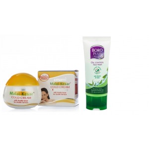 Buy Emami Malai Kesar Cold Cream + Boro Plus Oil Control Face Wash 50ml Free - Nykaa
