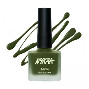 Buy Herbal Nykaa Fall Winter Matte Nail Enamel - Emerald Isle 118 - Nykaa