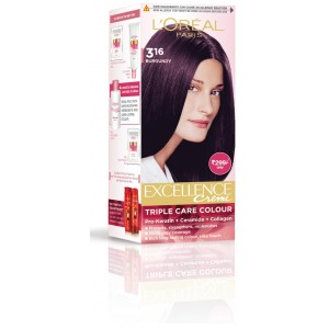 Buy L'Oreal Paris Excellence Creme Hair Color - Burgundy - Nykaa