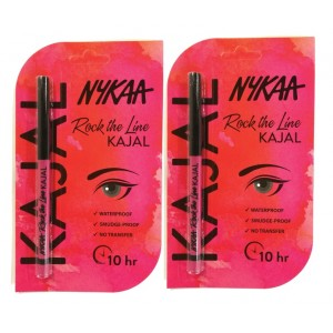 Buy Nykaa Rock The Line Kajal Pack of 2 - Nykaa