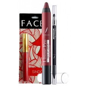 Buy Herbal Faces Paint Me Pink Matte Crayon & Intense Gel Kajal Combo + Free Faces Sindoor - Nykaa