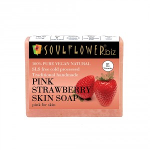 Buy Soulflower Pink Strawberry Skin Soap - Nykaa