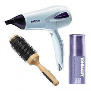 Buy Kent Blow Drying Brush + Babyliss Expert Hair Dryer + Toni&Guy Classic Shine Gloss Serum - Nykaa